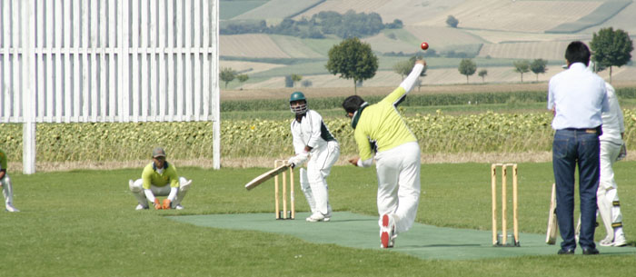 Cricketspiel in Seebarn